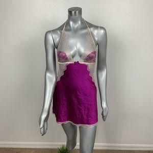 VS Chemise Intimate Lace Purple Sz: M